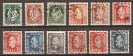 NORVEGE  /  NORGE.   1950 .   Cor De Poste  Et  Roi Haakon VII.  Oblitérés - Norvegia