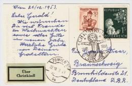 """Österreich, 1953, """" Christkindl """", Portogerecht! ,  #2750 - 1945-60 Briefe U. Dokumente"""