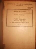Livre Militaire TM11-238 SCR 194-195 - Livres, BD, Revues