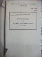 Livre Militaire TM11-859 SCR 593-A - 1901-1940
