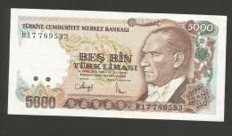TURKEY - NATIONAL BANK - 5000 LIRA (1970) - Turchia