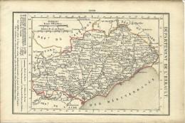 Département  DE L'HERAULT - Routes De POSTE - RELAIS DE POSTE - Bureau De POSTE AUX LETTRES. - Documents Historiques