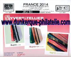 JEU FRANCE SUPRA YVERT 2 EME SEMESTRE 2014 - Pré-Imprimés