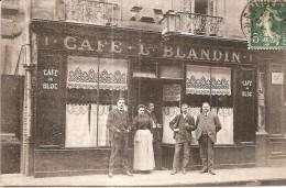 CAEN  -  DEVANTURE Caf� BLANDIN, 1 Rue du Moulin  -  RARE