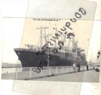 "photo bateau navire identifi� "" LUDWIGSHAFEN   "" HAPAG LLOYD A G RFA TRANSPORT MARITIME HAMBOURG 1969"