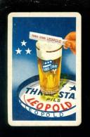 Speelkaart ( 970 ) Dos D´ Une Carte à Jouer - Bier Bière Bieren Bières Brasserie Brouwerij - Three Stars LEOPOLD - Barajas De Naipe