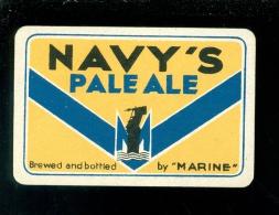 Speelkaart ( 985 ) Dos D´ Une Carte à Jouer - Bier Bière Bieren Bières Brasserie Brouwerij -  NAVY ' S - Barajas De Naipe