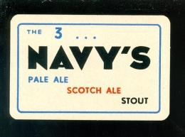 Speelkaart ( 986 ) Dos D´ Une Carte à Jouer - Bier Bière Bieren Bières Brasserie Brouwerij -  NAVY ´ S - Barajas De Naipe