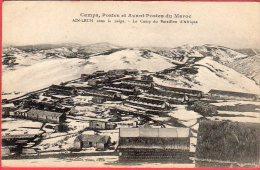 CPA MAROC AIN LEUH Camps Postes Et Avant Postes Sous La Neige - Le Camp Du Bataillon D 'Afrique - Maroc