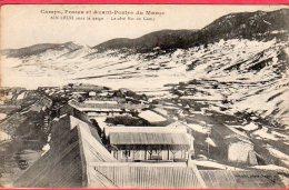 CPA MAROC AIN LEUH Camps Postes Et Avant Postes   Sous La Neige  Le Côté Est Du Camp (  Militaire - Maroc