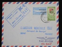 AFRIQUE DU SUD - Enveloppe 1er Vol De Johannesburg /Paris En 1960 - Aff Plaisant - à Voir - Lot P8153 - Posta Aerea