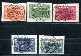 3554 - ALBANIEN - Mi.Nr. 90-94 Auf Briefstücken, Gestempelt  //  Pieces - Albania