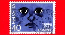 SVIZZERA - Usato - 1973 - 'Terre Des Hommes' - Aiuti Per Bambini - 40 - Schweiz