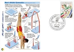 ALG Algérie N° 1666 Jeux Olympiques Comitée Olympique Algérien Gymnastique Rythmique - Gymnastik