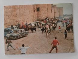 CPSM 30 AIGUES MORTES Abrivade Le Long Des Remparets 1968 - Aigues-Mortes