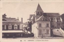 37 Indre Et Loire Amboise Bar Tabacs Article De Pêche Et église Saint Denis - Amboise