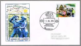 Monumento AL MINERO JUBILADO - CAMINO DE SANTIAGO - Concha - Shell. Mieres, Asturias, 2015 - Militares