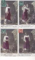 CHANSON DE MIGNON - Serie De 5 Cartes / TBE - Femmes