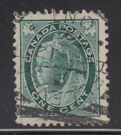 Canada Used Scott #67 1c Victoria - Leaf Issue Cancel: Squared Circle: Belleville, On - 1851-1902 Reign Of Victoria