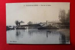 2 - ST JEAN DE LOSNE - Vue Sur La Saône - Péniche,  Remorqueur  Griffon - Edit Madeline - - Schlepper