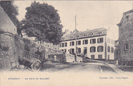 Sprimont  Un Coin  Du Village Charette Circulé En 1904 - Sprimont