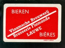 Speelkaart ( 997 ) Dos D´ Une Carte à Jouer - Bier Bière Bieren Bières Brasserie Brouwerij -   LAUWE - Barajas De Naipe