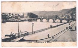 Namur, Promenade De La Meuse, Circulée En 1906, Dos Simple - Belle Oblitération Ransart - 2 Scans - Namur