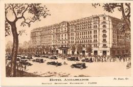 PARIS  - 75 -     Hotel AMBASSADOR - Nouveau Boulevard Hausmann - ENCH33 - - Autres Monuments, édifices