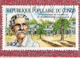 REP. POPULAIRE  DU  CONGO  -- DR.  SCHWEITZER  --  CACHET  AU CENTRE  --  **  240  F. **  --  POSTE  1988  --   BEG - Congo - Brazzaville