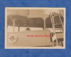 Photo ancienne snapshot - Bateau S/S Phila - Marine Partner - Navire de guerre ? - Capitaine sur le pont - Ship Boat