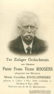 Doodsprentje / Pieter Frans Victor Roosens / Knollenburg / Berchem 1925 - Images Religieuses