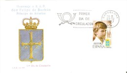 BARCELONA SPD DE HOMENAJE A FELIPE DE BORBON PRINCIPE DE ASTURIAS DEL AÑO 1977 - Familias Reales