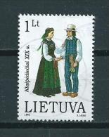 1996 Litouwen 1L. Costumes Used/gebruikt/oblitere - Lituanie