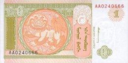 Mongolia 1 Tugrik 1993 Pick 52 UNC - Mongolia