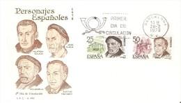BARCELONA SPD PERSONAJES ESPAÑOLES PIO BAROJA Y ANTONIO MACHADO DEL AÑO 1978 - Escritores