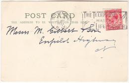 1933 GB GV COVER (card) TOTTENHAM N17 SLOGAN Pmk TELEPHONE Makes Life EASIER Stamps Telecom - Telecom