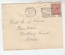 1932 GB COVER Richmond TELEPHONE SLOGAN Pmk Gv Stamps Telecom - Telecom