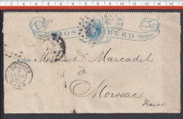 PAYS- BAS - 1891 -  ENTIER POSTAL 5 Cent DE ZUTPHEN A DESTINATION DE MOISSAC - FR - - Postal Stationery