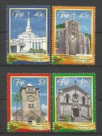 Fiji 2014 Christmas Churches Y.T. 1284/1287 ** - Fiji (1970-...)