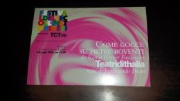 C-40922 TORINO FESTIVAL DELLE COLLINE RAINER WERNER FASSBINDER FERDINANDO BRUNI TEATRIDITHALIA - Eventi