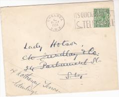 1933 GB COVER Chelsea  TELEPHONE SLOGAN Pmk Stamps REDIRECTED Gv Telecom - Telecom