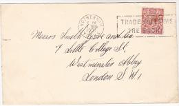 1931 GB COVER ROTHERHAM SLOGAN Pmk TRADE FOLLOWS THE PHONE Telecom Telephone Stamps Gv - Telecom