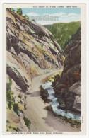 ST VRAIN CANYON CO, LYON ALLEN'S PARK ESTES PARK ROAD ROCKY MOUNTAINS c1920s Colorado postcard [5919]