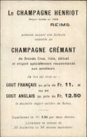 CHAMPAGNE - Publicité - HENRIOT - REIMS - Publicités