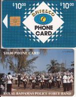 BAHAMAS ISL.(chip) - Royal Bahamas Police Force Band(BAH C6A), Black Number On Reverse, Chip GEM1, Used