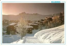 73. CPM. Savoie. Valmorel. Vallée Olympique, Station Châlets (neige) - Valmorel