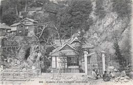 Entree D'un Temple Japonais, Klebestellen Auf Rückseite - Japan