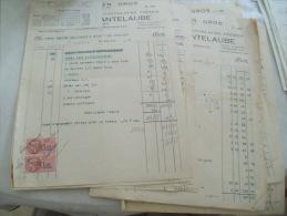 Lot Facture Sarlat 24 Cantelaube Epicerie - 1900 – 1949