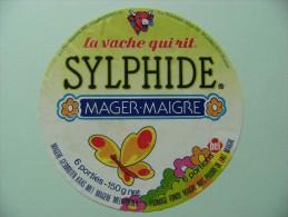 Etiquette Fromage Fondu - Vache Qui Rit - Sylphide BEL 6 Portions Export - Belgique  A Voir ! - Formaggio