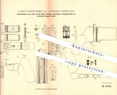 Original Patent - A. Martin Joseph Marres , J. A. Braendlin In Birmingham , 1880 , Pistol , Feuerwaffe , Waffe - 1914-18